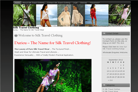 Gold Coast Business Websites Sample Site - Silks